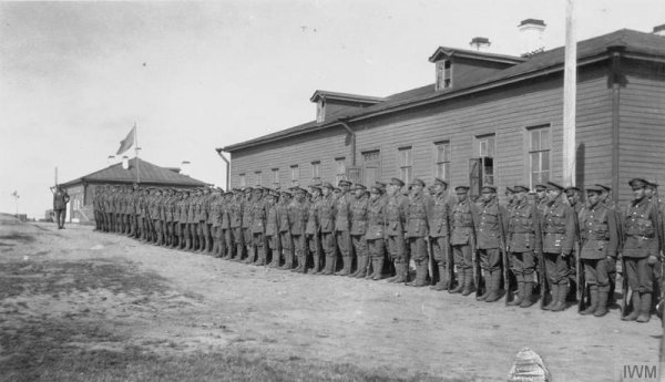 'A' Company of the Karelian Battalion/Regiment in British uniforms.